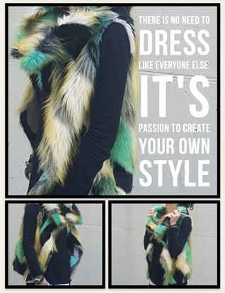 Picture of Fur sleeveless jacket by Gimagination.