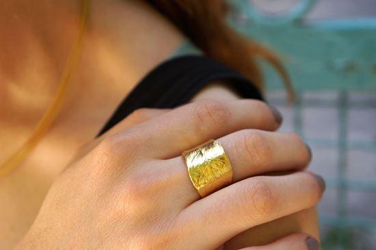 Olive Leaf Ring, Real Olive Leaf, Greek Ring