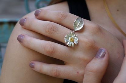 Chamomile and Rose Ring, Adjustable