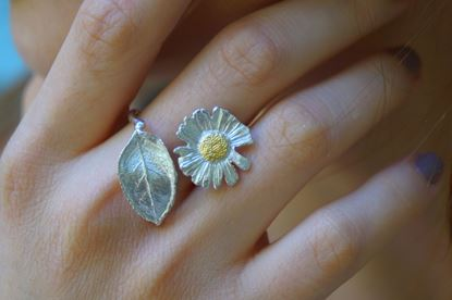Romantic Ring, Chamomile Ring, Silver Ring