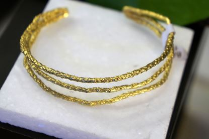 Pine Bracelet, Silver Bracelet, Gold plated, Rhodium Plated, Mother Nature