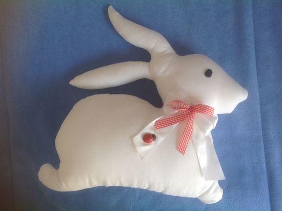 Picture of Bunny-Handmade kids cushion by Elena Farini