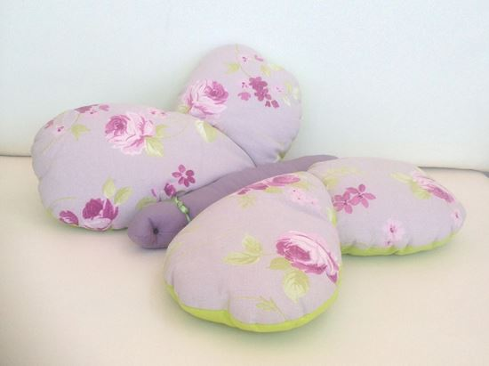 Picture of Butterfly-Handmade kids cushion by Elena Farini