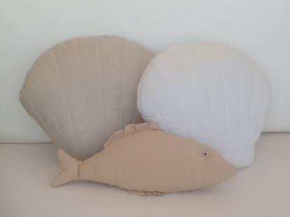 Picture of Seashell-Handmade kids cushion by Elena Farini