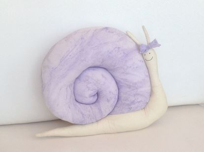 Picture of Snail-Handmade kids cushion by Elena Farini