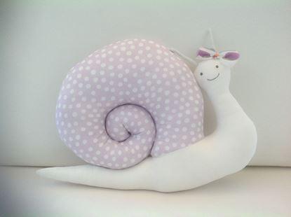 Picture of Snail-Handmade kids cushion by Elena Farini