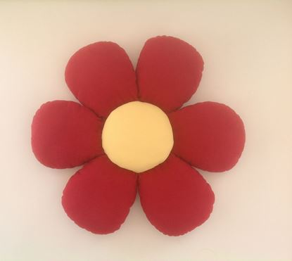 Picture of Flower-Handmade kids cushion by Elena Farini
